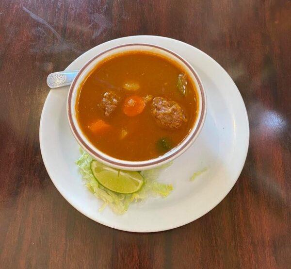 Albondiga soup cup1