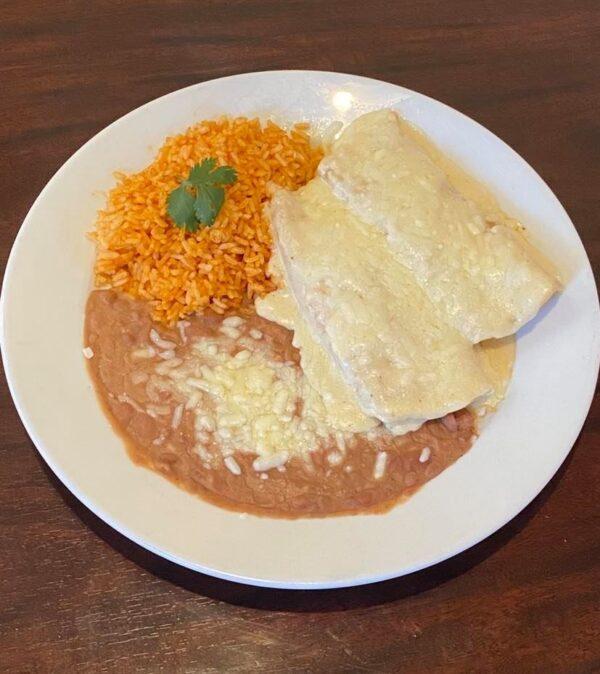 Chicken sour cream enchiladas1