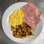 Ham and eggs breakfast