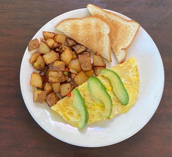 Omelette con palta