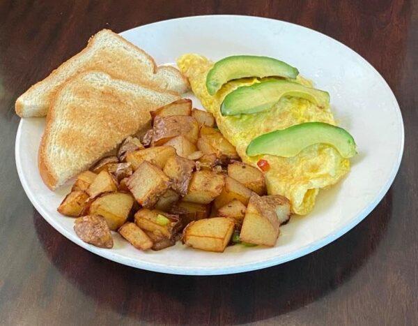 Omelette con palta1