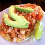 ceviche shrimp tostada avocado